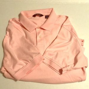 Pink collared shirt Lg for breast cancer month EUC